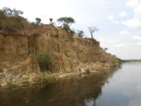 Bluffs along the Nile, the longest river in Africa
