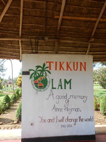 Tikkun Olam Shelter dedicated to the founder of the village, Anne Heyman, who died tragically just last year.