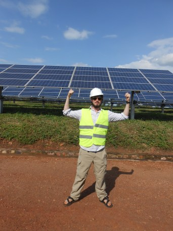 Proof I was inside the solar field that provides 6% of Rwanda's energy. (Hey America, environmentally friendly energy really works!)