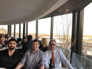 Saturday night dinner at Portus 360 - Richard Deza, Maxym Lachance and Antonio Alves