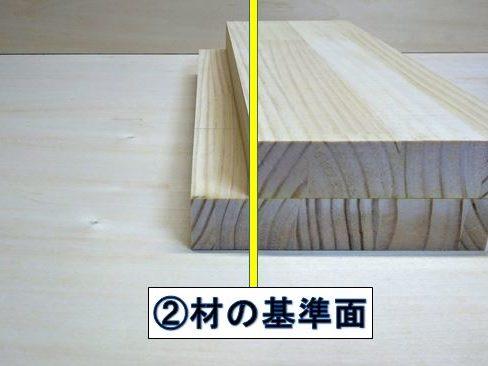 ②材の基準面