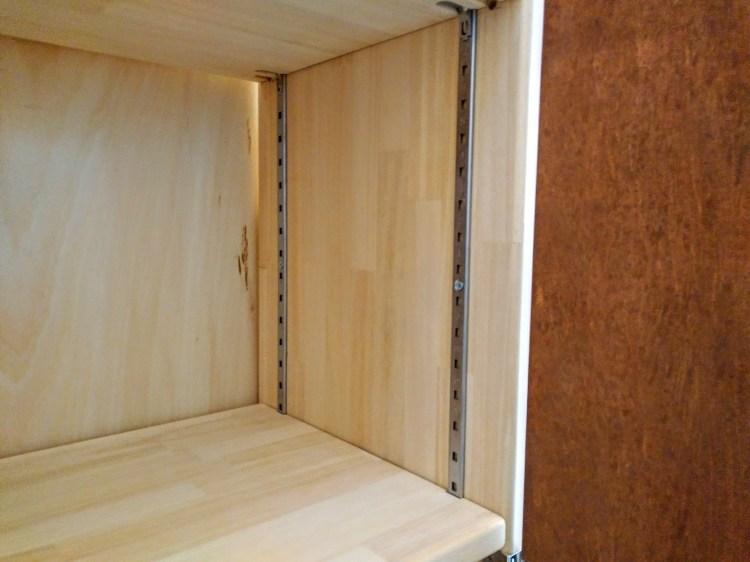 棚柱を使用した可動棚