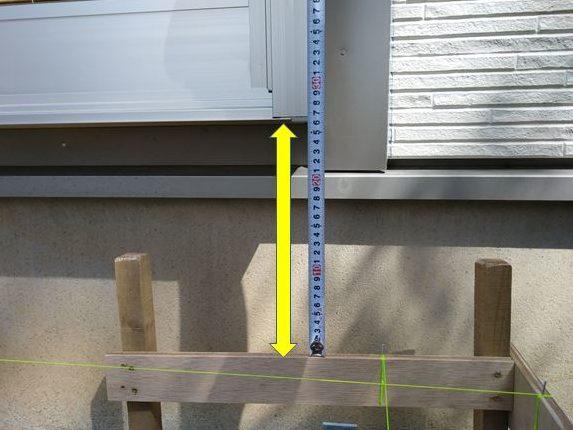 水糸から床の高さまでの寸法