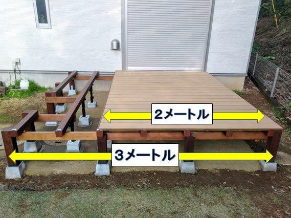 右側(2メートル)の床板から張っていく