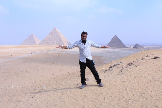 Me with The Great Pyramids.