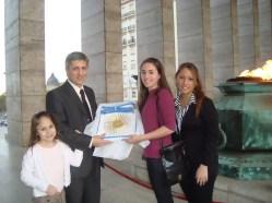 Oscar Tramannoni con le figlie
