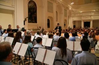 Concerto d'estate del 1 Agosto 2015 del Complesso Musicale Città di Potenza Picena, presso l'auditorium Ferdinando Scarfiotti. Foto di Aido Consolani.