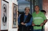 """Da sx Beniamino Carestia e Luigino Lavini all'Inaugurazione mostra fotografica di Bruno Grandinetti """"Come Eravamo 1953-1954"""". Sala Umberto Boccabianca. Foto di Aido Consolani."""