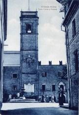 Torre Civica vista da Via Guglielmo Marconi. Cartolina Giulietti.
