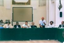Parla il Prof. Lionello Bianchini. 18 Giugno 2005 Consiglio Comunale straordinario presso l'Auditorium Ferdinando Scarfiotti. Foto di Angelo Bongelli.