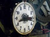 Interno torre civica. Vecchio orologio Roberto Trebino. Particolare del quadrante.