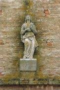 Statua dell'Assunta prima del restauro. Foto di Luigi Anzalone.