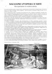 Appello di Paolo Onofri alla popolazione di Potenza Picena per il resturo del Sipario del giorno 12/1/1999.