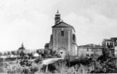 """Esterno chiesa di San Francesco anni 30. Foto tratta dal libro """"Il fasciono della Storia, il respiro del mare - Potenza Picena""""."""