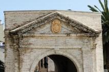 Porta Galiaziano, particole della facciata. Foto di Sergio Ceccotti.
