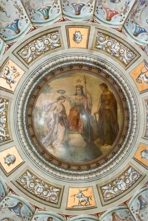 Quadro di Ignazio Tirinelli prima dei lavori di restauro del 1990.