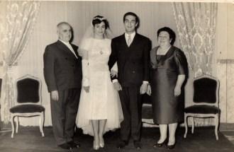 Carlos Fontinovo e Blanca Moreno. Faustino Fontinovo, Anunciación Yolanda Lettieri. Foto di Amalia Fontinovo.