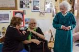 Da dx Sandra, Giulia Asciutti e Clara Piottante. Cerimonia del 18-6-2016 presso l'abitazione della famiglia Asciutti. Foto Sergio Ceccotti.