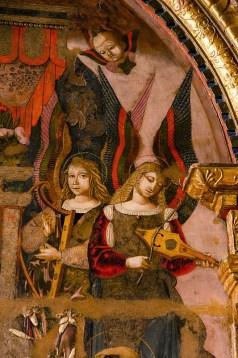 Particolare della tavola di Bernardino di Mariotto, del 1506. Foto di Sergio Ceccotti.Foto di Sergio Ceccotti.