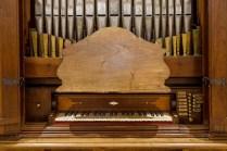 Organo da sala Giovanni Fedeli del 1757. Foto Sergio Ceccotti.