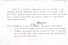 Lettera donativo tesi di Laurea su Bruno Mugellini Revisore del Prof. Emiliano Giannetti.