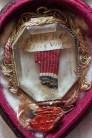 Particolare reliquiario con un frammento del Velo della Beata Vergine - Monastero Benedettine di Santa Caterina in San Sisto a Potenza Picena - Foto Sergio Ceccotti.