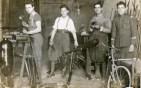 Clito Carestia primo a sx durante il servizio militare in Italia. Foto Franco Carestia.