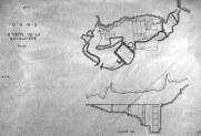 Pianta e sezione della Grotta de la Balauziere, probabile romitorio del santo. (tratta da: http://www.loomji.fr/vers-pont-du-gard-30346/monument/grotte-prehistorique-dite-balauziere-10722.htm )