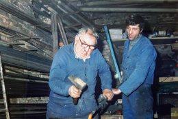Marcello Bompadre ed Eugenio Borroni, erede dell'arte e della bottega dello zio Marcello.