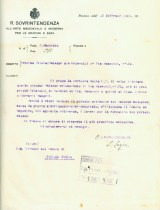 lettera della Sovrintendenza di Ancona e Zara del 13/2/1925 al Sindaco di Potenza Picena per impedire la rimozione del Palazzo Trionfi. ASCPP.
