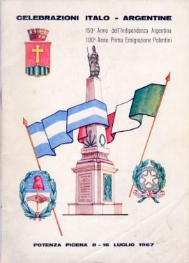 Copertina dell'opuscolo stampato per la cerimonia di inaugurazione della Piramide de Mayo.