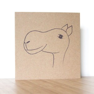 Greetings Card purple camel Isabell Schulz