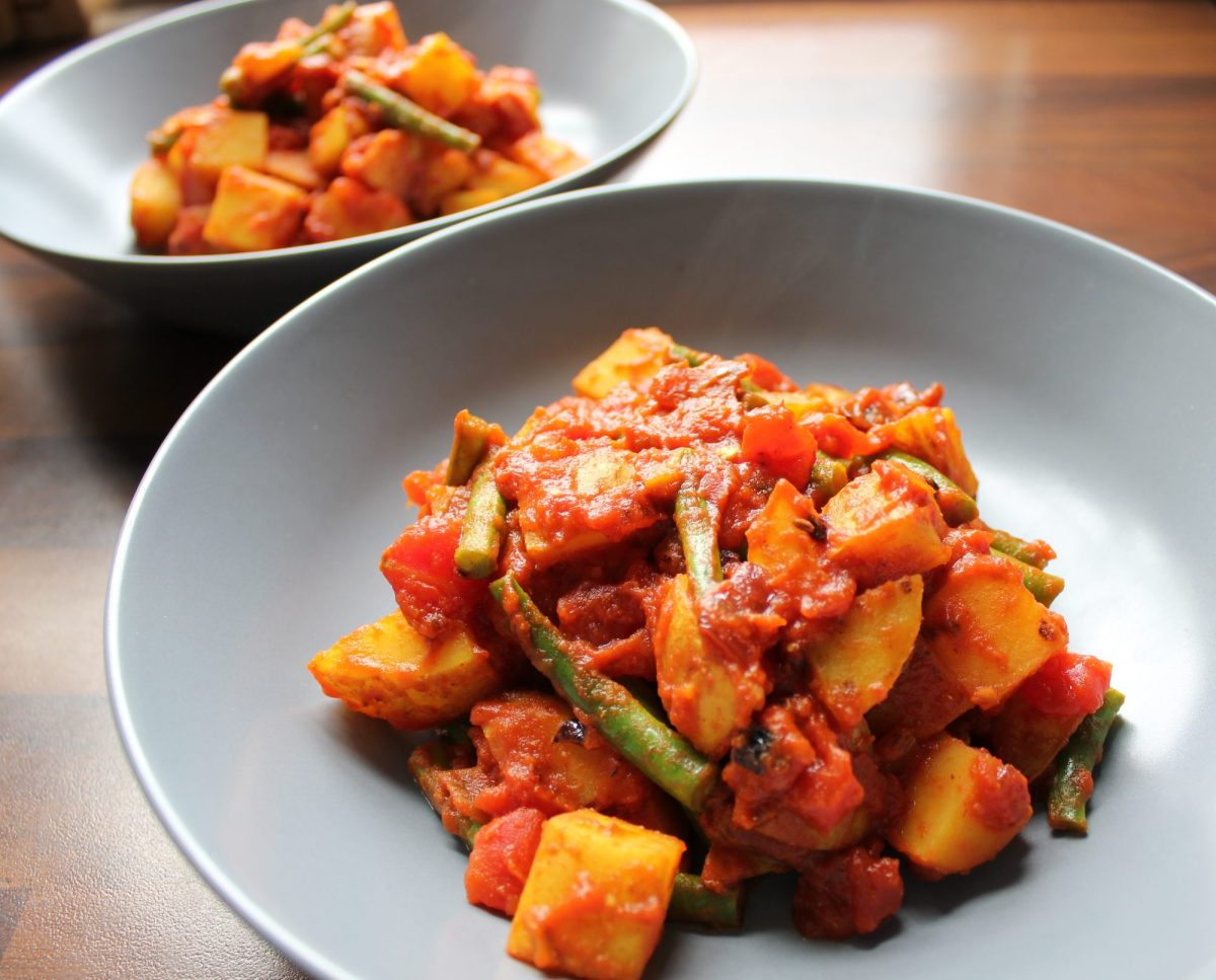Recipe: Runner Beans and Potato Curry