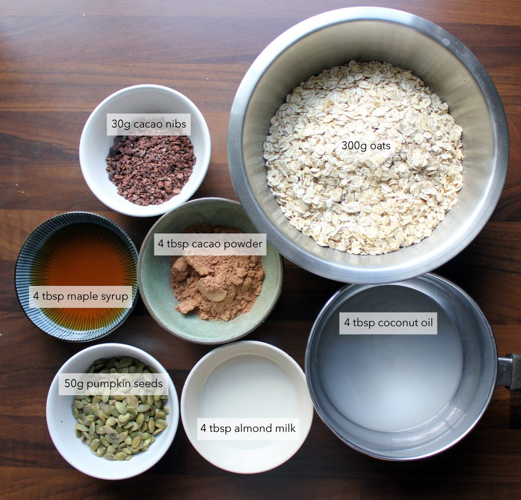 granola ingredients labels blant-based