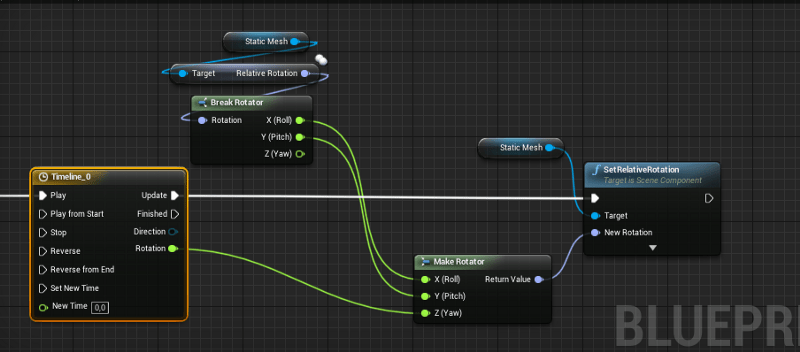 UE4 - Making animations with blueprints: the Timeline