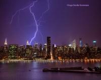 Lightning rips through NYC skies   Inga's Angle