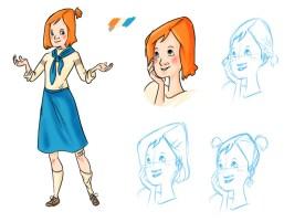 DDR Mädchen Character Design Sketches No 1 2014 (Sketchbook Pro)