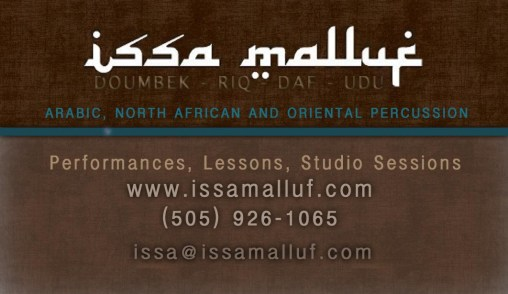 Issa Malluf Business Card by Isa Stewart