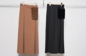 Fur Pk long skirt
