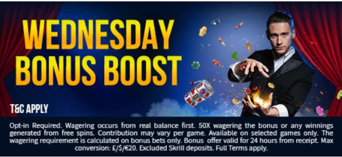 Fruity King Casino Wednesday Bonus Boost