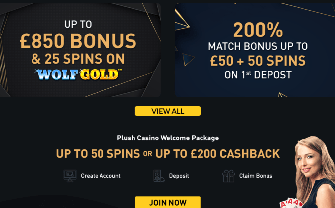 Plush Casino Bonus Promotions