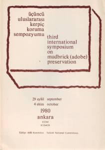 Poster for the Third International Symposium on Mud-brick (Adobe) Preservation Ankara, Turkey