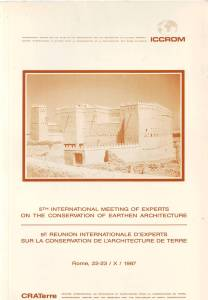 Poster for the Fifth International Meeting of Experts on the Conservation of Earthen Architecture