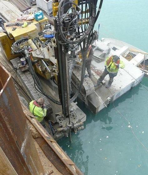 underwater drilling