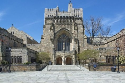 Yale University's beautiful campus building