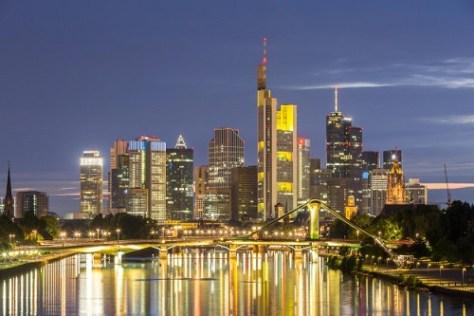 Frankfurt skyline. Study in Germany