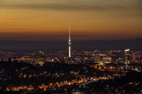 The Auckland skyline