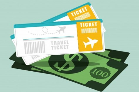 Tickets and money displaying Tips about cheap student flights