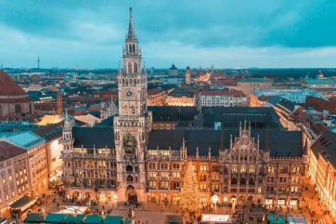 A view of the Germany(Munich) skyline