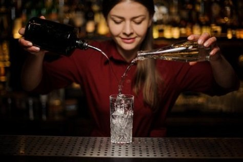 Bar tending is one of the best paying part-time jobs for college students